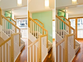 Staircase, internal doors & juliette balcony